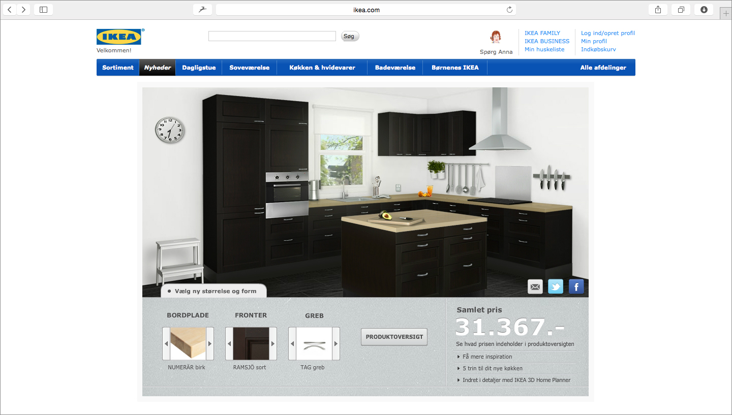 Sugar creative ikea kitchen configurator for Configuratore cucine ikea